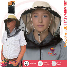Mosquito Fly Net Head Protector Easy View Net Mozzie Insect Fishing Fly Hard Hat
