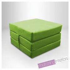 citron vert 100% coton replié simple lit Z Cube invité futon FAUTEUIL-LIT Budget