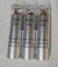 Lote 3 Tubo NYX Usa Lápiz Labial Labio chapoteo Divertidos Colores 539 Tubo Redondo mestizos Sellado