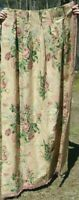 "Vintage Barkcloth Era c1938 Big Scale Floral Peach-Pink Curtain Panel~67""X44"""