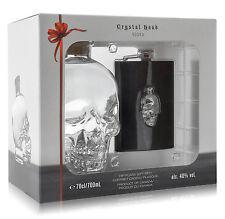 Dan Aykroyds Crystal Head Vodka 0,7L (40% Vol.) Geschenkset mit Flachmann