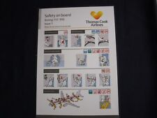 Thomas Cook Airlines Boeing 757-300 Safety On Board Card Issue 1