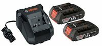 BOSCH BAT612-RT 2 Pack 18 Volt Li-Ion 18V Batteries & BC660-RT Battery Charger