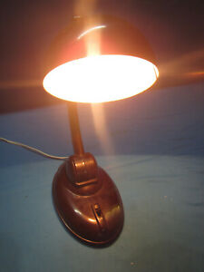 Vinatge Art Deco Style Bakelite Bedside Office Desk Table Light Lamp Rare Light