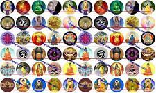 """60 Precut 1"""" BUDDHA ZEN Bottle cap Images Set A"""
