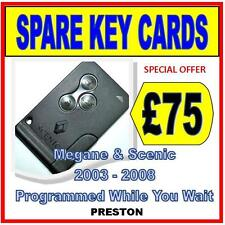 Renault Megane & Scenic  - Replacement Key Card  Including Programming