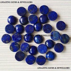 10pcs Naturel Lapis Lazuli 5mm Rond Cabochon Desseré Pierre Précieuse Bleu