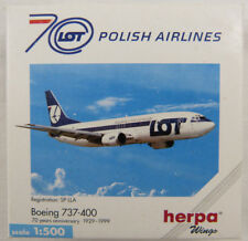 Boeing 737-400 LOT Polish Airlines SP-LLA Herpa 501330 1:500 in OVP [M1]