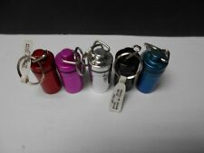 5 Solaray Pill FOB Keychains. Metal Conatiners. 5 assorted colors. Save!    #499