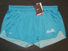 Nike VCU RAMS Womens Dri-Fit Hero Mesh Shorts Size M Turquoise Blue Athletic NWT