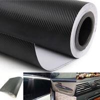 3D Black Carbon Fiber Vinyl Wrap Sticker Car Interior Panel Interior Accessory