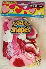 Creative Hands Foam Shapes Hearts 150 Count Pink, Red, White - Acid Free