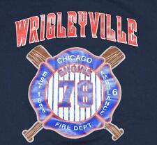 """Chicago Fire Department CFD E78 """"Wrigleyville"""" Cubs Fire Fighter Shirt - XL"""