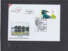 Austria 2013 Nature Conservation Kingfisher bird FDC Wien pictorial h/s