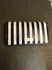 Henri Bendel Centennial Stripe Continental Wallet - Brown & White