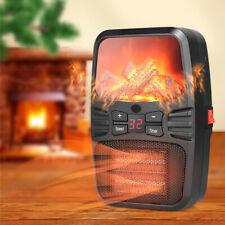 Mini Heater Heizlüfter 500W Steckdose 220V Heizung Elektro Heizgerät Timer DE