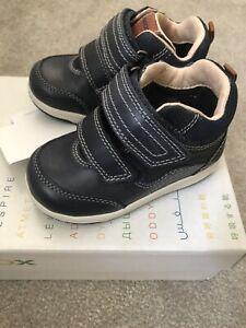 Geox Toddler Baby Boy New Walker Shoes Trainers Navy Blue BNIB Eu Size 21 UK 4.5