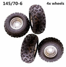"4X 145/70- 6"" inch Front/Rear Wheel Rim Tyre/Tire 50cc 110cc Quad Bike ATV Buggy"