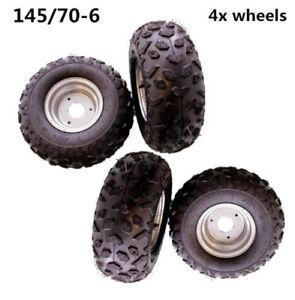 "4pcs 145/70 - 6"" Front Rear Wheel Rim Tyre Tire 50cc 110cc Quad Bike ATV Buggy"