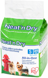 "Best USA Neat 'n Dry Premium For Pet Training Pads Small 25 Pcs 17.5""x17.5"" NEW"