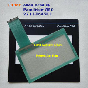 for Allen Bradley PanelView 550 2711-T5A5L1 Touch Screen Panel + Protective Film