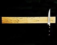 Cuchillo magnético de madera del sostenedor del estante 42cms hecha de Spalted Arce, Regalo Ideal.