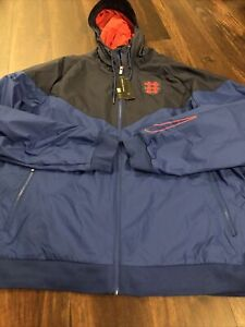 New Nike Team England Mens Soccer Jacket Size 2XL Blue Red