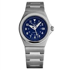 Ball Men's Rail Roader Blue Dial Stainless Steel Swiss Quartz Watch NM1019C-BE