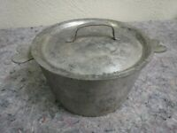 Small Lidded Pot With Heart Handles-Made in France-Camping?