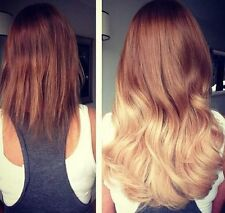 """22"""" OMBRE WEAVE/WEFT #6/613 SUPER DELUXE 150G 5A GRADE HUMAN REMY HAIR UK SELLER"""