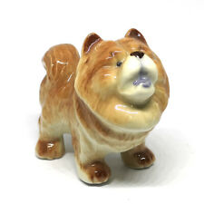 Ceramic Chow Chow Dog Breed Figurine Hand Painted Miniatures Animal Collectible