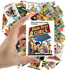"""Stickers pack [24 stkrs 2.5""""x3.5""""ea] Vintage Sexy Girls Trash Movie Posters 1080"""