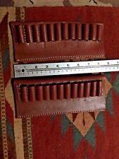 LOT OF TWO (2) 45 70 Govt Cal Bullet Cartridge Belt Slide Leather Carrier Holder