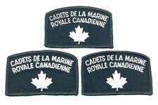 Vintage Cadets De La Marine Royale Canadienne Embroidered Sew On Patch H123z