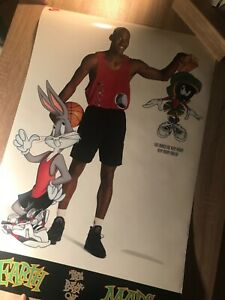 Michael Jordan Space Jam Nike Bugs Bunny Marvin the Martian Earth vintage Poster