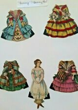 """Set Of McLoughlin Bros. Paper Dolls """"Fanny"""" Hand Colored Paper Doll Circa 1858"""