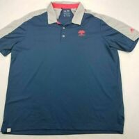 Mission Hills Adidas Golf Mens Polo Shirt Blue Climacool Stretch Short Sleeve XL