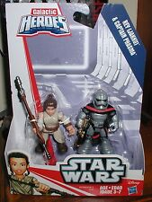 playskool STAR WARS GALACTIC HEROES 2 pack figures REY & CAPTAIN PHASMA  NEW