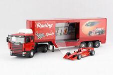 1:43 Sweden Scania F1 Car Transporter Diecast Model Truck Red 1/43