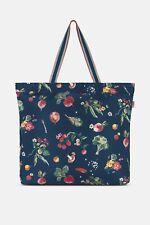 Cath Kidston large foldaway zipped tote/shopper bag, navy garden veg print, BNWT