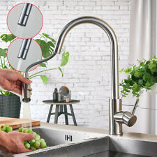 Brushed Nickel Kitchen Faucet Pull Down Sprayer Single Handle Mixer Tap Swivel