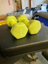 New listing 2 Sport Gym Training Women Men Weight Barbell Neoprene Dumbbell Pair 6lbs