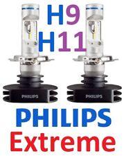 1 pr H9 H11 Philips Extreme LED Globes Bulbs 12v 24v +200% Brighter