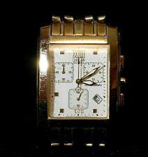 Mens Citizen Eco-Drive Chronograph Watch Wristwatch # 390506 Gold Tone Rectangle