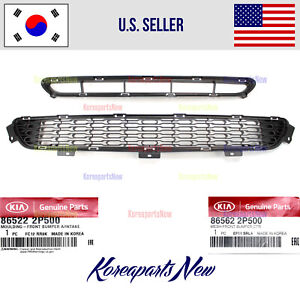 Front Bumper Grille LOWER + CENTER (2pcs) ⭐GENUINE⭐ fits Kia SORENTO 2014-2015