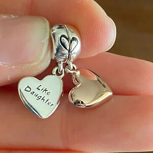 NEW Genuine Pandora Charm 787783EN16 Mother and Daughter Love Charm Rose Silver