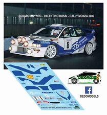 DECALS 1/43 SUBARU IMP WRC VALENTINO ROSSI RALLY MONZA 2000