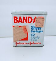 VTG Band-Aid Band Aid 1983 Collectible Tin Johnson & Johnson Sheer Bandages 50