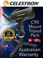 Celestron C90 MAK Astronomy Telescope + Tripod & Mount - Spotting Scope # 52268