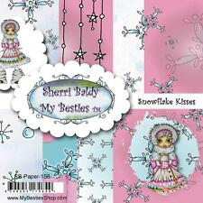 "NEW My-Besties SCRAPBOOK PAPER PACK SET 6 X 6"" free us ship SNOWFLAKE KISSES"